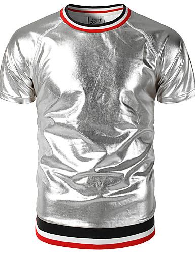 Herrn Solide - Street Schick / Punk & Gothic Klub T-shirt, Rundhalsausschnitt Gold L / Kurzarm