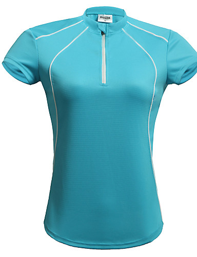 cheap Cycling Clothing-Jaggad Women's Short Sleeve Cycling Jersey - Blue Pink Light Green Solid Color Bike Jersey Top Breathable Quick Dry Sports Polyester Coolmax® Mountain Bike MTB Road Bike Cycling Clothing Apparel