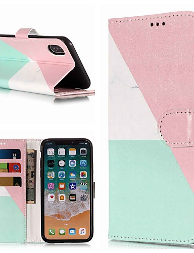 Etui Til Apple iPhone XR / iPhone XS Max Pung / Kortholder / Med stativ Fuldt etui Marmor Hårdt PU Læder for iPhone XS / iPhone XR / iPhone XS Max