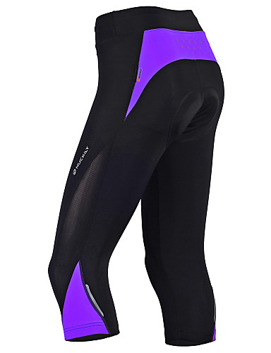 cheap Cycling Clothing-Nuckily Women's Cycling 3/4 Tights Bike Pants Bottoms Breathable Sports Polyester Red / black / Bule / Black / Black+Purple Mountain Bike MTB Road Bike Cycling Clothing Apparel Advanced Relaxed Fit