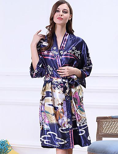 abordables Lingerie-Rayon / polyester Robes de Chambre Mariage Non personnalisé Imprimé