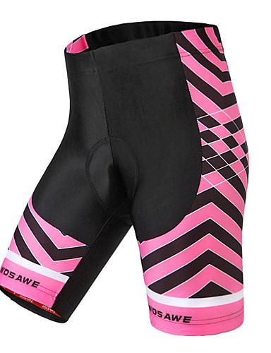 WOSAWE Women s Cycling Padded Shorts Bike Shorts Bottoms Waterproof  Breathable Sweat-wicking Sports Polyester Spandex Red Mountain Bike MTB  Road Bike ... c97d5b551