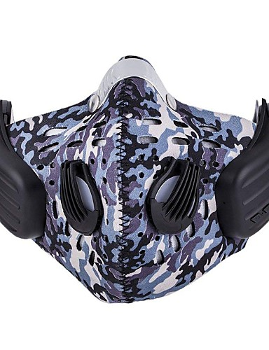cheap Cycling Clothing-Sports Mask Pollution Protection Mask Headsweat Cycling Fitness, Running & Yoga Detachable Fleece Limits Bacteria Bike / Cycling Fuchsia Navy Blue Spandex for Unisex Adults Teen Adults' Ski