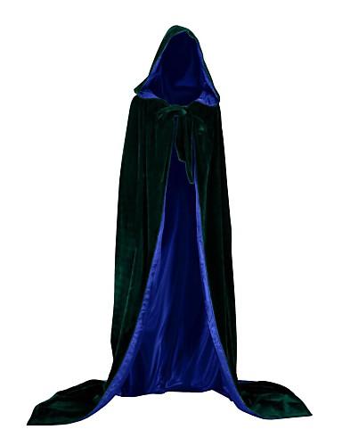 billige Kostumer for Voksne-Heks Vampyr Cosplay Kostumer Kappe Festkostume Kostume Voksne Herre Opdækning Halloween Jul Halloween Karneval Festival / Højtider Satin Fløjl Grøn / Blå / Mørkegrøn Karneval Kostume Ikke specificeret