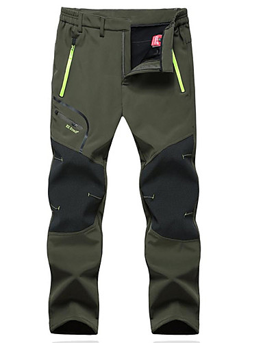 cheap Outdoor Clothing-Men's Hiking Pants Softshell Pants Outdoor Thermal / Warm Windproof Breathable Winter Fleece Pants / Trousers Hunting Fishing Hiking Black Army Green Grey XXXL 4XL 5XL / Micro-elastic / Quick Dry