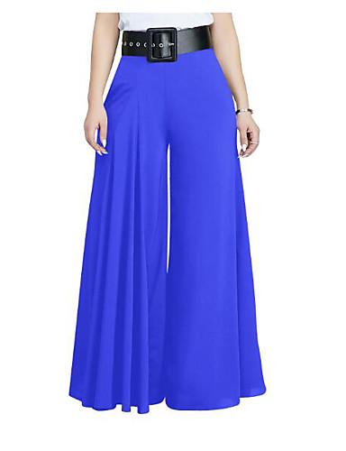 abordables Pantalons Femme-Femme Sortie Ample Pantalon - Couleur Pleine Vin Blanche Vert Véronèse S M L