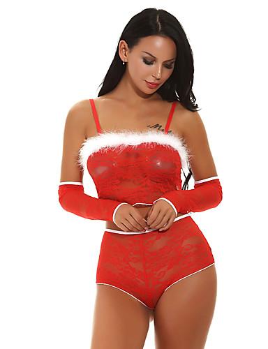 voordelige Kerstwinkel-Dames Kerstmis Rokken - Effen Blote rug Rood L XL XXL / Kostuum / Super Sexy