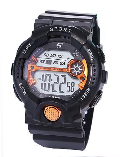 Muškarci Sportski sat digitalni sat Šiljci za meso Silikon Crna 30 m Vodootpornost LCD Svijetli u mraku Šiljci za meso Luksuz Moda - Zelen Plava Rose Gold