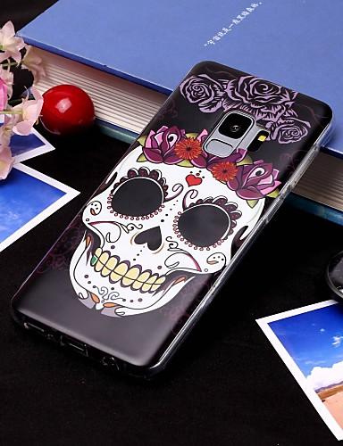 Θήκη Za Samsung Galaxy S9 / S9 Plus / S8 Plus IMD / Translucent Stražnja maska Lubanje Mekano TPU