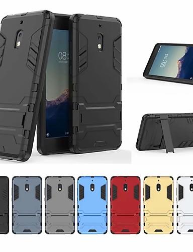 ケース 用途 Nokia Nokia 2.1 耐衝撃 / スタンド付き バックカバー ソリッド / 鎧 ハード PC
