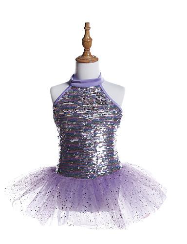 preiswerte Ballettbekleidung-Ballett Kleider Mädchen Training / Leistung Elasthan / Tüll / Pailletten Pailetten Ärmellos Kleid