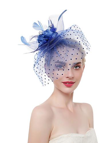 Žene Kentucky Derby slatko Moda Šeširi Vjenčanje Party - Jednobojni Cvjetni print / Lan / Mrežica / Sva doba