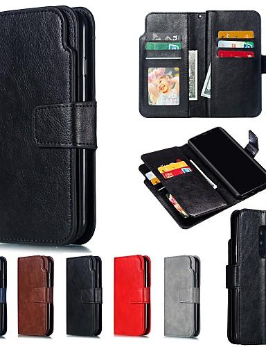 Θήκη Za Samsung Galaxy S9 / S9 Plus / S8 Plus Novčanik / sa stalkom Korice Jednobojni Tvrdo PU koža