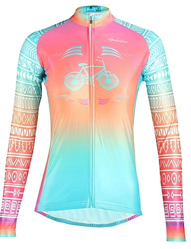 cheap Cycling Clothing-ILPALADINO Women's Long Sleeve Cycling Jersey Fuchsia Floral Botanical Bike Top Breathable Quick Dry Ultraviolet Resistant Sports Winter Elastane Mountain Bike MTB Road Bike Cycling Clothing Apparel