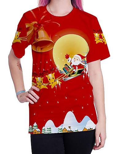 billige Dametopper-T-skjorte Dame - Tegneserie Gatemote Rød