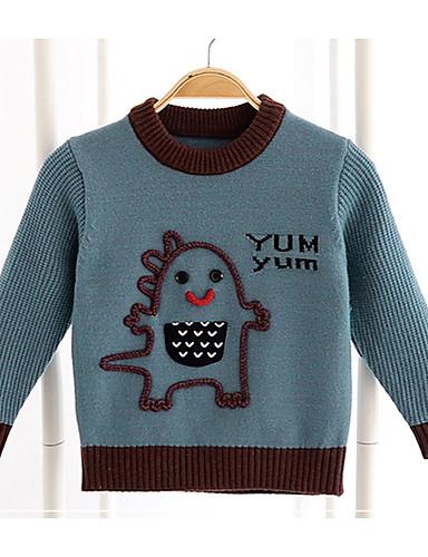 Dijete koje je tek prohodalo Djevojčice Aktivan Dnevno Geometrijski oblici Color block Dugih rukava Regularna Džemper i kardigan Braon