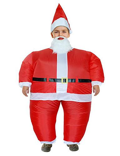 e940f1478 Disfrace de Cosplay Santa vestir Juventud Adulto Hombre Navidad Navidad Año  Nuevo Festival   Celebración Tejido Acolchado Lino Rojo Traje carnaval ...