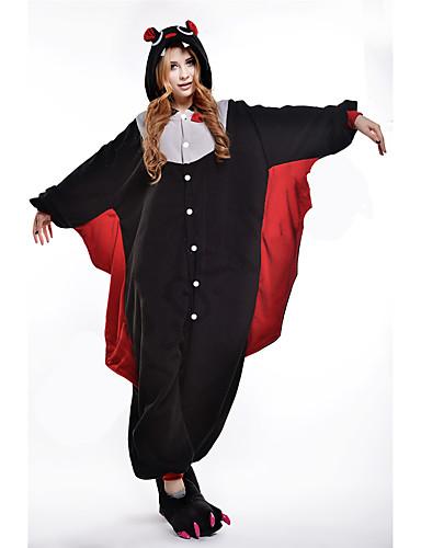 ef4325fd6ed0 Недорогие Пижамы кигуруми-Взрослые Пижамы кигуруми Летучая мышь Животный  принт Цельные пижамы Коралловый флис Косплей