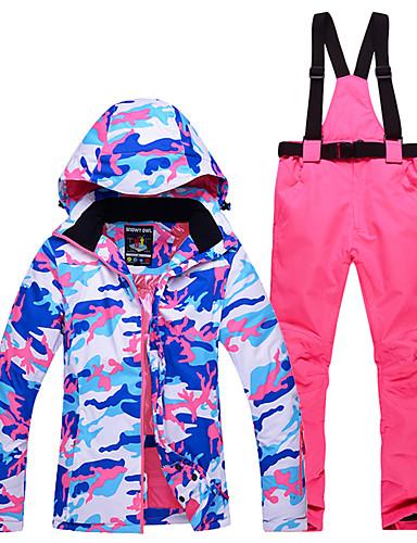 ieftine Σκι & Snowboard-Snowy Owl Pentru femei Jachetă de Schi & Pantaloni Impermeabil Keep Warm Rezistent la Vânt Schiat Sporturi de Iarnă Poliester Set de Îmbrăcăminte Ținută Ski