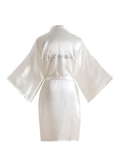 abordables Lingerie-Faux Soie Robes de Chambre Mariage Non personnalisé