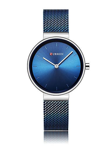 De Gris Cuarzo Mujer Azul Reloj Acero Vestir Inoxidable Negro hsQCxtrd