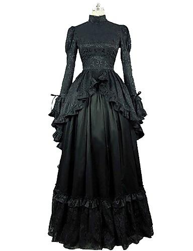 2a68894f03c Χαμηλού Κόστους Στολές της παλιάς εποχής-Rococo Victorian 18ος αιώνας  Στολές Γυναικεία Φορέματα Μαύρο Πεπαλαιωμένο