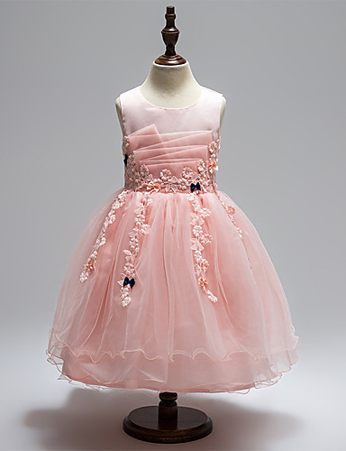 02d41448c7e6 Princess Medium Length Flower Girl Dress - Tulle Sleeveless Jewel Neck with  Appliques / Bow(s) by LAN TING Express 7013727 2019 – $29.99