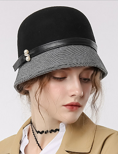 cf920ede0f52b The Marvelous Mrs. Maisel Women s Adults  Ladies Retro   Vintage Cloche Hat  Hat Black Color Block Headwear Lolita Accessories