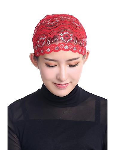 abordables Accessoires Femme-Femme Rétro / Soirée / Basique Hijab - Dentelle, Jacquard