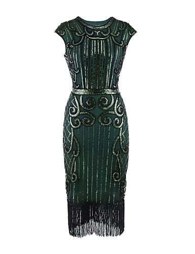 billige Feriekjoler-Tube / kolonne Besmykket Telang Sateng Cocktailfest Kjole med Paljett / Plissert av TS Couture®