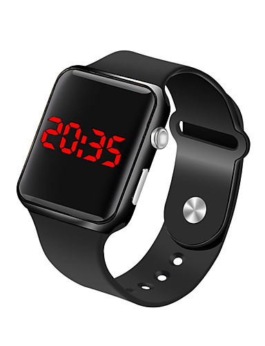 Muškarci Ručni satovi s mehanizmom za navijanje digitalni sat Šiljci za meso Silikon Crna 30 m Vodootpornost LCD Šiljci za meso Moda Minimalistički - Fuksija Plava Rose Gold