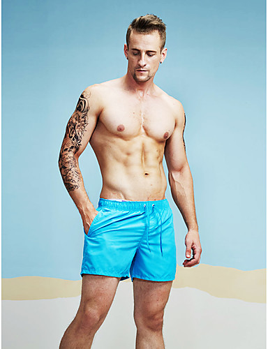 cheap Shorts-Men's Active Relaxed / Shorts Pants - Solid Colored White / Sports / Spring / Summer / Fall