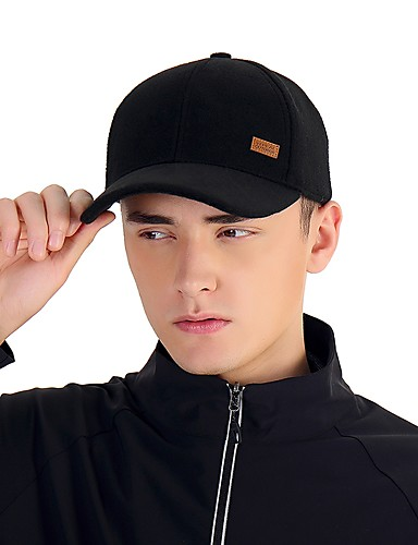 cheap Outdoor Clothing-VEPEAL Hiking Cap Ball Cap Hat Windproof Warm Solid Colored Fashion Wool POLY Autumn / Fall for Men's Women's Hiking Traveling Winter Sports Black