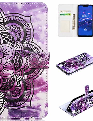 Θήκη Za Huawei Huawei Honor 10 / Honor 7A / Honor 7C(Enjoy 8) Novčanik / Utor za kartice / sa stalkom Korice Mandala Tvrdo PU koža