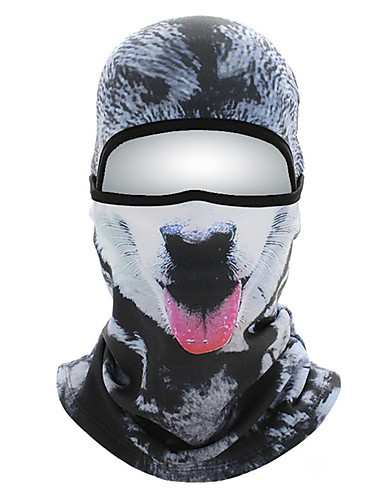 cheap Cycling Clothing-Pollution Protection Mask Thermal / Warm Breathable Moisture Wicking Dust Proof Stretchy Bike / Cycling Brown+Gray Orange+White Rough Black Polyester for All Adults Outdoor Exercise Downhill Bike
