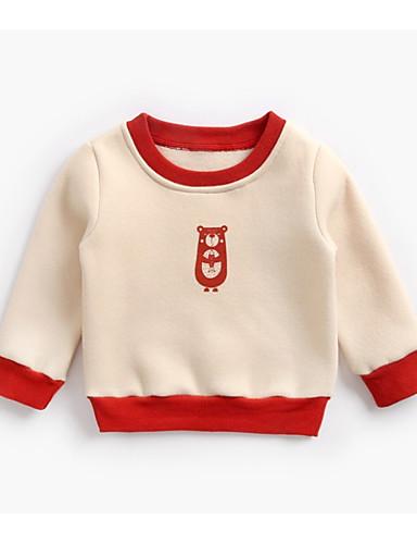 Dijete koje je tek prohodalo Dječaci Aktivan Dnevno Jednobojni Geometrijski oblici Dugih rukava Regularna Pamuk Trenirka s kapuljačom Red