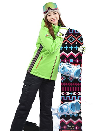 d956b19c26 MARSNOW® Femme Veste et Pantalons de Ski Etanche Chaud Respirabilité  Camping / Randonnée Sports d'hiver Coton Ensemble de Vêtements Tenue de Ski  / Hiver