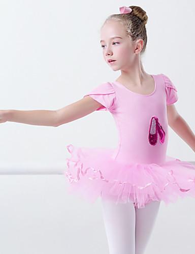 preiswerte Ballettbekleidung-Ballett Kleider Mädchen Training / Leistung Elastan / Lycra Applikationen / Nierenwärmer / Bänder Kurzarm Kleid