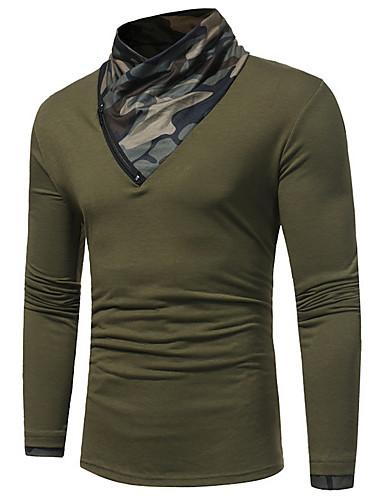 お買い得  軍隊-男性用 Tシャツ ストリートファッション カモフラージュ