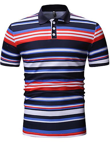 594f56927b Homens Polo - Esportes   Trabalho Básico   Moda de Rua Estampado