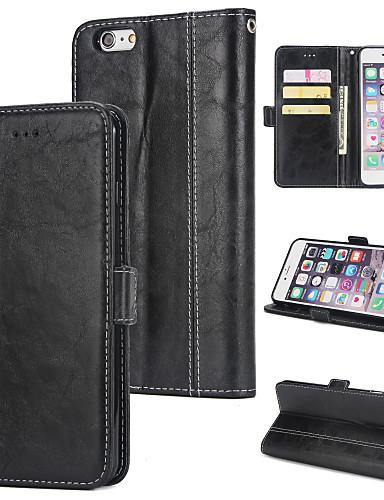 Θήκη Za Apple iPhone 6 Plus Novčanik / Utor za kartice / Zaokret Stražnja maska Jednobojni Tvrdo PU koža