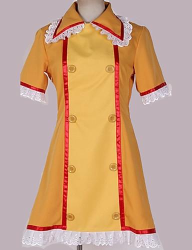 """billige Anime Kostymer-Inspirert av Vokaloid Cosplay Anime  """"Cosplay-kostymer"""" Cosplay Klær Ensfarget / Sydd Blonde Kjole / Mer Tilbehør / CAP konstruktion Til Herre / Dame"""