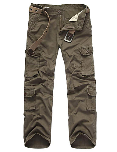 cheap Outdoor Clothing-Men's Camo Hiking Cargo Pants Outdoor Windproof Wearable Winter Sports Winter Cotton Pants / Trousers Hunting Multisport Army Green Camouflage Khaki XL XXL XXXL / Stretchy