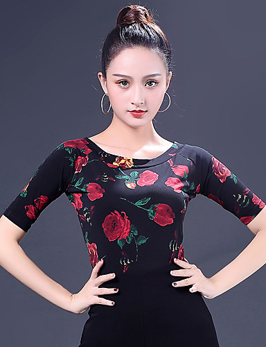 98c84f9003 cheap Ballroom Dancewear-Ballroom Dance Tops Women  039 s Performance Ice  Silk Pattern