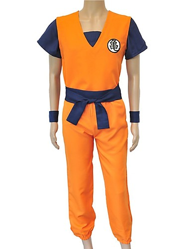 povoljno Anime kostimi-Inspirirana Dragon Ball Son Goku Anime Cosplay nošnje Japanski Cosplay Suits Slovo Others / Top / Hlače Za Uniseks
