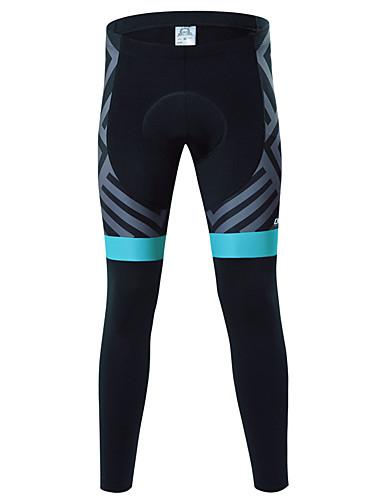 cheap Cycling Clothing-cheji® Men's Cycling Tights Cycling Pants Bike Pants / Trousers Tights Pants Thermal / Warm Quick Dry Sports Fleece Winter Silver / Green Mountain Bike MTB Road Bike Cycling Clothing Apparel Bike Wear