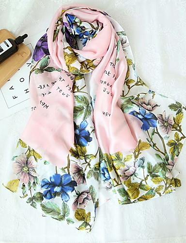 Жен. Прямоугольный платок - С кисточками Цветочный принт