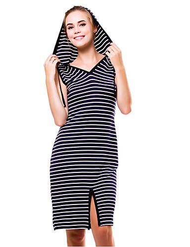 05b1974344ed Γυναικεία Κομψό Θήκη Φόρεμα - Ριγέ Ως το Γόνατο   Sexy