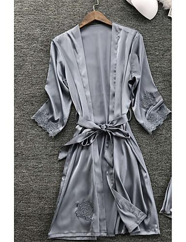 Kadın's Etekler - Solid Dantel Koyu Mavi Gri Şarap M L XL / Sexy