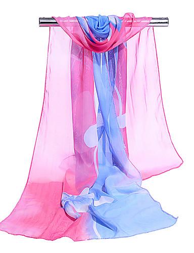 Χαμηλού Κόστους Women's Scarves-Γυναικεία Συνδυασμός Χρωμάτων Βασικό / Γιορτή Πολυεπίπεδο - Ορθογώνιο